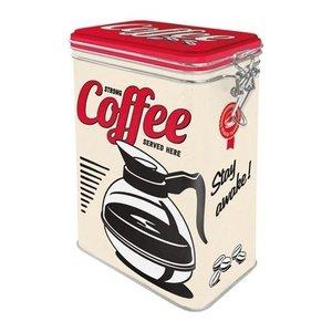 Aufbewahrungsbox 3D Clip Top Box Strong coffee served here