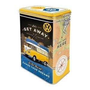 3D Clip Top Box VW Bulli Let's Get Away
