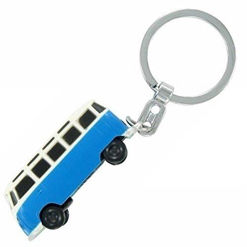 VW T1 Samba bus blauwe sleutelhanger met ledlampje