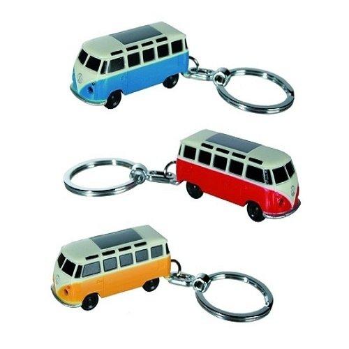 VW T1 Samba bus gele sleutelhanger met ledlampje