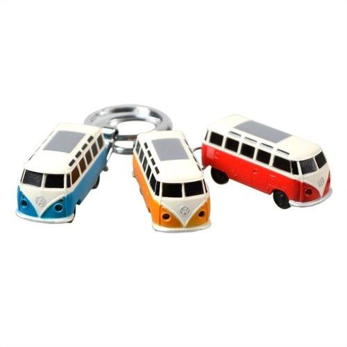 VW T1 Samba bus rode sleutelhanger met ledlampje