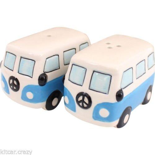 VW Hippie bus peper en zoutstel blauw