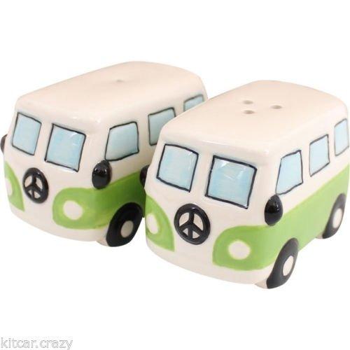 VW Hippie bus peper en zoutstel groen