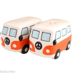 VW Hippie bus peper en zoutstel oranje