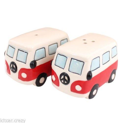 VW Hippie bus peper en zoutstel rood