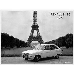 Renault R16 1967 Tour Eiffel metalen wandplaat