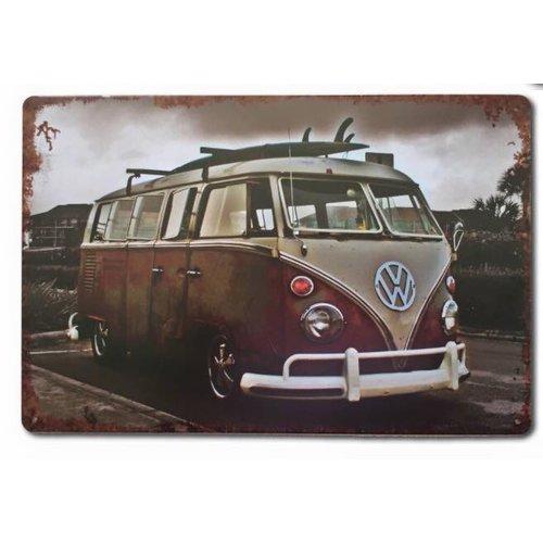 Volkswagen T1 metalen wandplaat