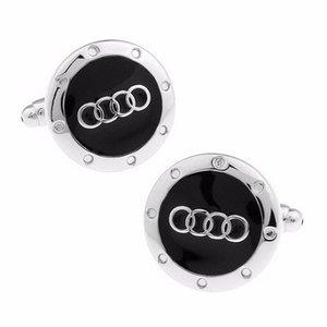 Audi ronde zwarte manchetknopen