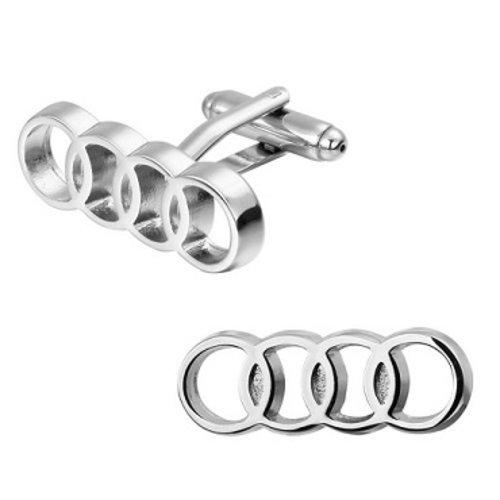 Audi zilverkleurige manchetknopen