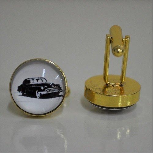 Oldtimer goudkleurige manchetknopen