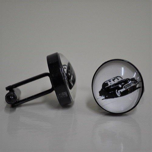 Oldtimer zwartkleurige manchetknopen
