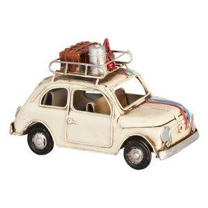 FIAT 500 vintage beige metalen miniatuurauto