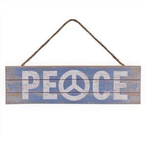 Houten tekstbord Peace