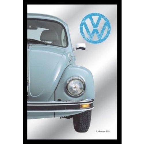 VW Spiegel blauwe Kever