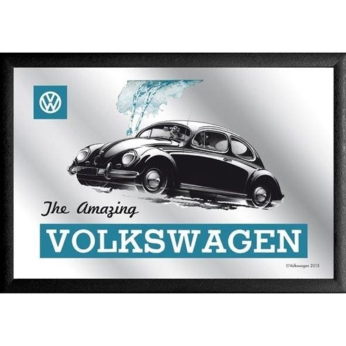 VW Beetle The Amazing blauwe Spiegel