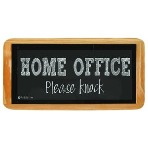 Hanging sign Home Office Please knock
