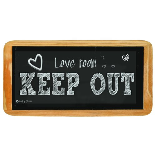 Hanging sign Love Room Keep Out