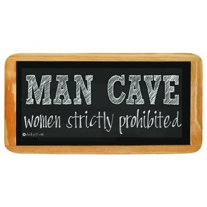 Hanging sign MAN CAVE women strictly