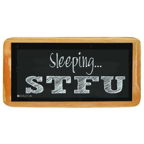 Hanging sign Sleeping STFU