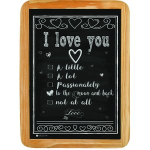 Wood sign I LOVE YOU to the moon and back