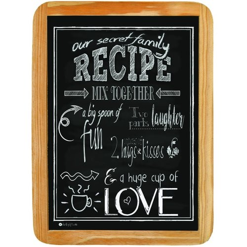 Wood sign Our secret family Recipe MIX TOGETHER