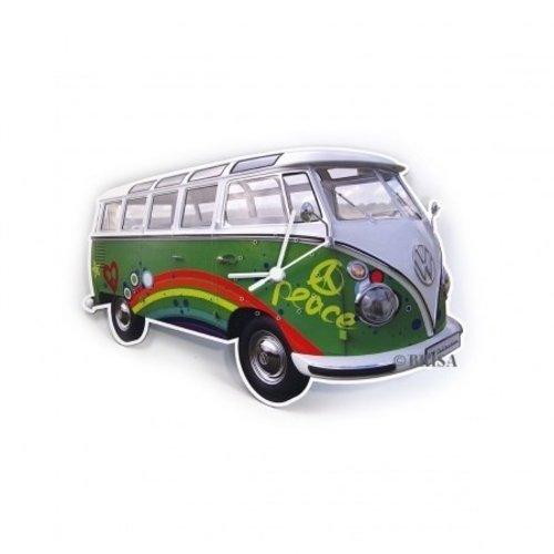 Volkswagen klassieke T1 bus Peace wandklok