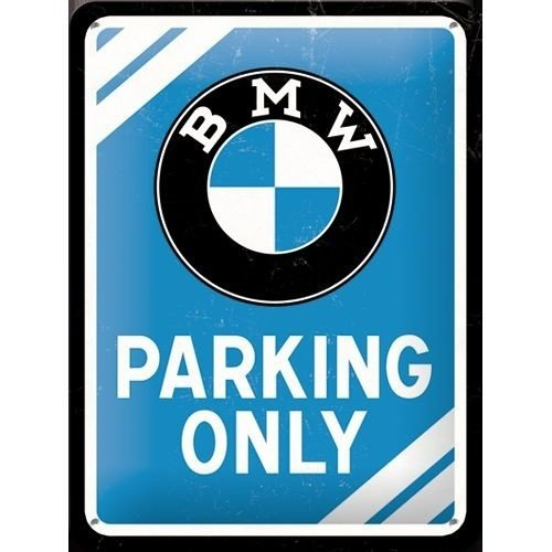 BMW Parking Only metalen bord 15x20 cm