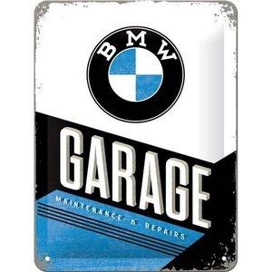 BMW Garage metalen bord 15x20 cm