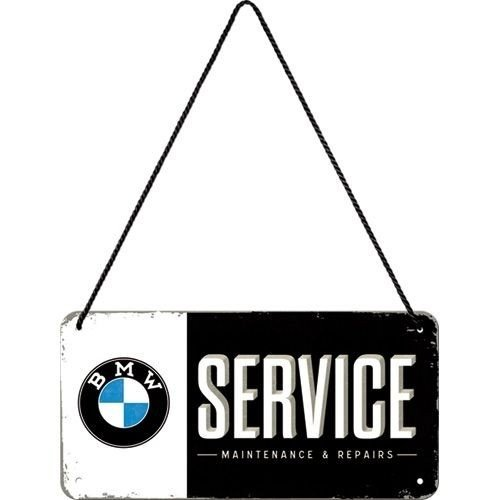BMW Service Hanging Sign 10x20 cm