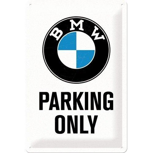 BMW Parking Only metalen bord 20x30 cm