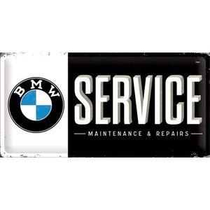 BMW Service metalen bord 25x50 cm