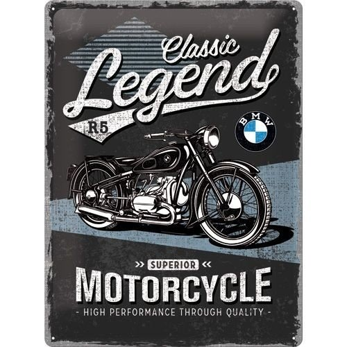 BMW Classic Legend R5 metalen plaat 30x40 cim