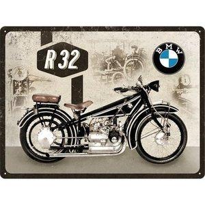 BMW Motor R32 metalen plaat 30x40 cm