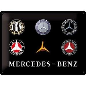 Mercedes Logo Evolution metalen plaat 30x40 cm