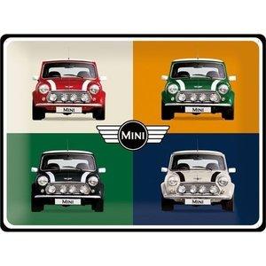 Mini Pop Art metalen plaat 40x30 cm