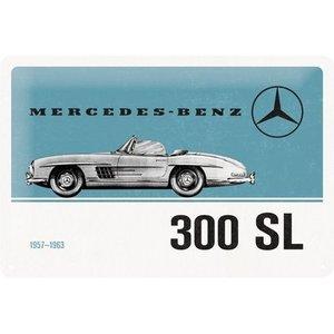 Mercedes 300 SL 1957-1963 metalen plaat 30x20 cm