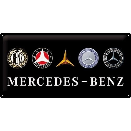 Mercedes Logo Evolution metalen plaat 50x25 cm
