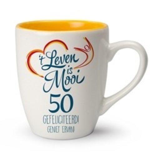 't Leven is Mooi mok 50 Gefeliciteerd! Geniet ervan