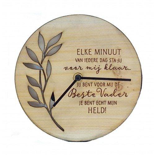 Good Timers houten klok Beste Vader