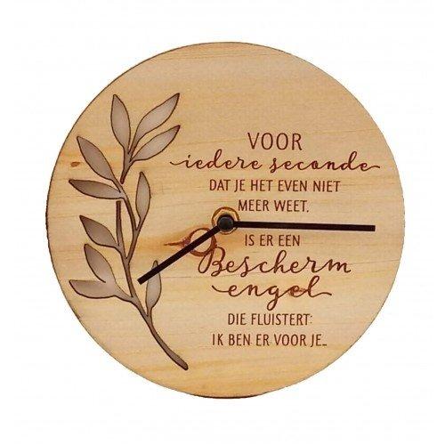 Good Times houten klok Beschermengel