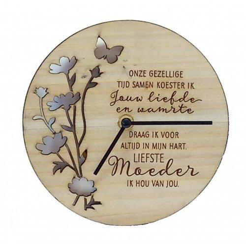 Good Times houten klok Liefste Moeder