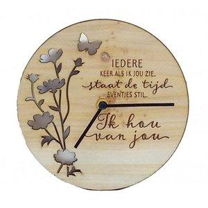 Good Times houten klok Ik hou van jou