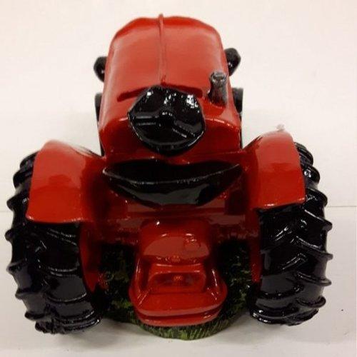 Spaarpot tractor rood