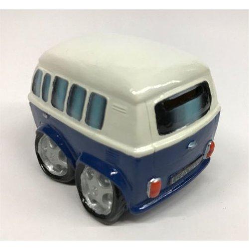 Spaarpot Volkswagen busje in blauw en wit