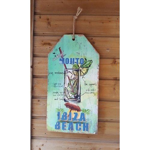 Ibiza wandbord Cocktail Party Mojito 60 cm