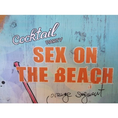 Ibiza wandbord Cocktail Party Sex on the Beach 60 cm