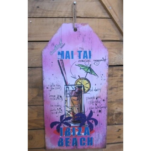 Ibiza wandbord Cocktail Party Mai Tai 60 cm