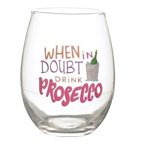 Set van 2 Drinkglazen - Prosecco Slogans