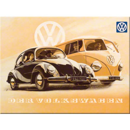 Volkswagen Kever & T1 bus Magneet Nostalgic Art