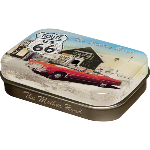 Route 66 Red Car Gas Up mintbox
